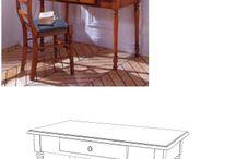 Dressing Tables & Bedroom Desks / Meubels en woon accessoires voor de kamer en de slaapkamer. Functioneel ontwerp of sfeervol hoekje .  / by Slaapkenner Theo Bot