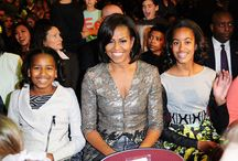FLOTUS / Notice POTUS always grinn' @ her. He knows how lucky he is!!!! / by Ann Wheeler