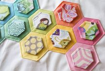 Quilts - Hexie Quilts / Hexie Quilts / by Patty Martin