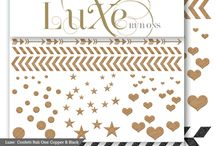 Luxe Collection / It's Time To Go Glam!  Quickly add metallic shimmer to your craft projects with our high stylin' Luxe Collection. Let your inner fashionista get creative and shine above the rest..because now it is easy to add that perfect accessory and sparkle to your paper crafting projects or even your tabletop decor!   / by Pink Paislee