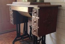 Singer sewing machine 66k / I've just bought this lovely old machine in a 7 drawer cabinet, & I am going to try & refurbish it back to close to original condition / by Jenny Boylen