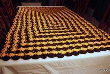 Black and Orange Crocheted Blanket / by Christina-Tina Lee