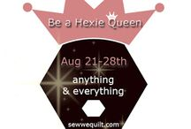 BE A HEXIE QUEEN BLOG HOP / HEXIE seems to be a rage at the moment and we here at Sew We quilt, do not want to be left behind...So Debby from Debby Kratovil Quilts will be leading us into cheer, as only she can do...by the way, she has great tools for making hexies.. / by Mdm Samm ...