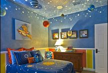 outer space room ideas / by Cheran Smith