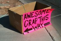 Funny Yard Sale Signs / We love it when people get creative with their yard sale signs! / by Sale Buddy