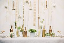 Celebrations - Decorations / backdrops + table settings + color schemes / by Sarah VanCamp Kern