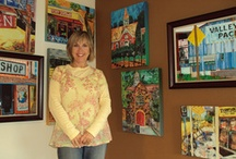 What I Do As An Artist / I paint buildings and signs that connect people with fun and memories.  / by Donna Covey Paintings