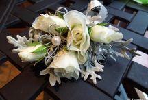 Bridal arrangements bouquets and corsages / by cindy ledingham