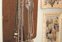 Bling N Bangle Organizers / #jewelry box, #jewelry tree, #jewelry organizer, #diy, #tutorial, #jewelry, #organizer / by Karen Chapman