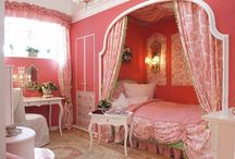 Amberlynn's new room / She wants a pink room with a princess Belle theme / by Lauren Simmons