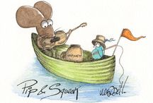 Pip & Squeak / Starring Pip the Mouse and Squeak the little Blue Birdie, together they have wonderful adventures / by Michelle Campbell Art