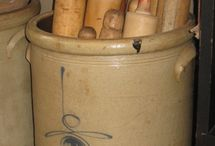 Salt Glaze pottery & Crocks / by Vera Riffle