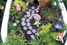 Fairies / Fairy Gardens and Miniature Gardens for outdoor use.  Maybe even a Gnome or two! Curated by Kristine Robinson of Robinson Interiors     http://robinsoninteriors.wordpress.com/ / by Robinson Interiors