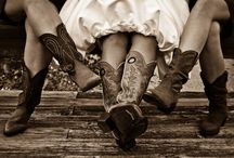 cowgirls & boots / by Robin Werner