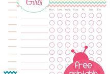 chore charts / by Tausha Hoyt {Sassy Style Redesign}