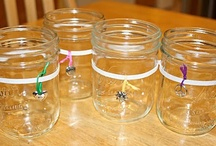 Mason Jars / All sorts of ideas for mason (or canning) jars:  lanterns, soap dispensers, gift containers, decorations, candles, and cooking.  / by Dayna