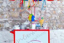Μπουφές Βάπτισης | Καροτσάκια παγωτού | Τραπέζι ευχών / Γλυκές απολαύσεις για τη βάφτιση του παιδιού σας.  Τραπέζια ευχών με απίθανες λιχουδιές, καροτσάκια παγωτού, μαλλί της γριάς, συντριβάνι σοκολάτας κ.ά. http://www.paixnidokamomata.gr/events/baptiseis/glikes-lixoudies-kai-catering.html / by Παιδικά Πάρτυ