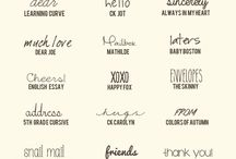 Hand-Lettered Designs / by ForYourParty.com