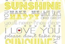 Sunshine / by NathanandCeleste Molsbee