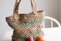 BAGS,purses,totes,baskets,etc. / crochet, sew, etc. / by Susan Bertucci