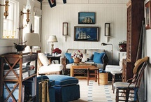 Inspiring Rooms I Love for Lakehouse Ideas & New England Decor / These pins are things I've found for project ideas for my house and others. I use these to make changes to my own house which talk about on my blog www.luckylakehouse.com. / by Nicole Rader