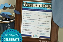 Fathers Day / What to make for Dad this Father's Day ideas with father activities for Dads, Happy Fathers Day cards, homemade gifts, Fathers Day printables, and Dad crafts. / by Laurie ~ Tip Junkie