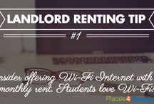 Landlord Renting Tips For Student Housing / Renting tips for landlords who are in the student housing market. Great tips on how to market your rentals to college and university students.  / by Places4Students.com