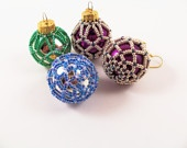 Beaded Christmas ornaments  / by Susan Cooksey