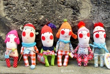 fabric dolls and plushies / by Uli