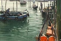 watercolor paintings / by cleo lee
