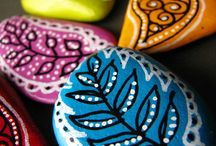 painted rocks / by Marla Benell