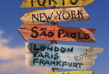 """Bon Voyage! ✈ ~ ¡Buen Viaje! ✈ / """"The World is a book, and those who do not travel read only a page."""" ~Saint Augustine / """"El mundo es un libro, y los que no viajan leen sólo una página."""" ~Saint Augustine   / by Irene Niehorster"""