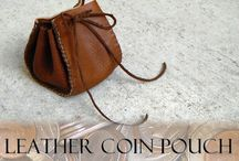Leather - pouches & purses diy / by MamaSaVa