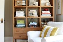 Staging TV unit shelves / Modern & clean shelf ideas / by Jeanne Aument