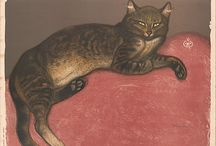 Cats in Art-20th Century at The Great Cat / www.thegreatcat.org....(https://www.facebook.com/catsinart) / by The Great Cat
