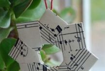 Sheet Music, Book Pages, Maps - decor / by Trish Windley
