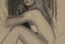 Brooke Shields,drawings by Paul Davison / by Paul Davison Art Studios