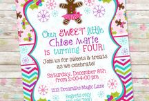 Girly Gingerbread Birthday Party / by Dreamlike Magic Designs