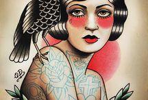 Tatoos e Desenhos / Exemplos de Tattoos Old School / by Wanderson Martins
