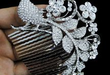 Bridal Accessories & Finishing Touches / Jewels, Headpieces, Hair Combs & Clips, Veils, Garters, Handbags and Sashes...oh! and Tiaras...must have Tiaras / by About the Details