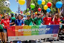 Tech Shows Gay PRIDE / Tech companies big and small weren't afraid to show their support for gay, lesbian, bisexual, transgender, and queer rights at the 2014 San Francisco Pride festival. Here's how they celebrated. / by TechCrunch