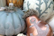 Nautical Pumpkins for Halloween / Some of our favorite nautical pumpkins. See our top 10 list at http://nantucketbrand.com/shop/blog/nautical-pumpkins-halloween.html / by Nantucket Brand