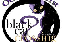 Black CAT Crossing blog hop / Maywood has come out with this FABULOUS WICKED themed collection called Black Cat Crossing...Wicked Wendy will be stirring us all into wickedness again this year.... Come and JOIN US....you will be twitching and stitching with a pretty eclectic gathering... / by Mdm Samm ...