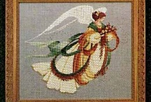 Angel Cross Stitch / I have several these finished in my home and love them! / by Stitch and Frog Cross Stitch