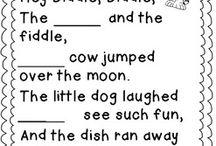 school- nursery rhymes / by Geri Archer