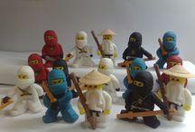 "Fondant figures Ninjago / Fondant figures for cakes - Ninjago (Lego) - by Studio ""Fondant Design Ana"" / by Figurice Za Torte"