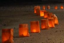 Entertainer Delights - Pathway of candles / by Be Dazzled