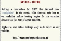 Special Offers / by Annie's Guest House