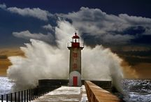 Lighthouses / I love lighthouses. Technology has made them obsolete today, I hope the majority survive for future generations. What a lonely job to have had, so many lives depending on the lighthouse to keep them safe. / by Kathleen Calahane