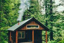 Cabins. / by Cazadora de inspiración